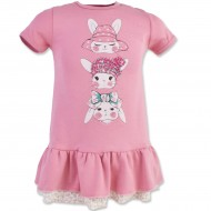 "Платье для девочки ""Rabbit""короткий рукав"