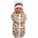 """Кокон для новорожденного с шапочкой """"Енот"""""""