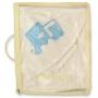 """Полотенце с уголком и варежкой для купания в подарочной упаковке """"Ufaklik"""""""