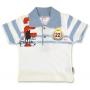 """Детская футболка """"Королевский поло клуб"""" для мальчика (голубая)"""