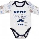 """Боди для новорожденного """"Mister Bear"""" длинный рукав"""