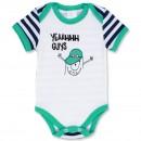"Боди для новорожденного ""Yeaahhh Guys"" короткий рукав"