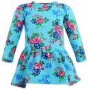 """Утепленное платье для девочки """"Розы"""" капитоний"""