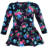 """Утепленное платье для девочки """"Розы"""""""