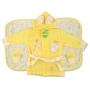 """Детский махровый халат с ушками, полотенце и тапочки """"Happy face"""""""